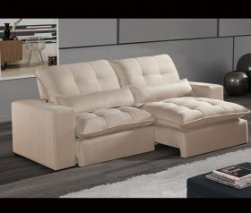 Sofa Retratil Reclinavel Piquet - 2,10 mts até 2,90 mts - ByMobille