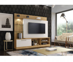 Estante Home Theater para TV até 65 Polegadas Flórida Plus Mavaular Off white/Damasco