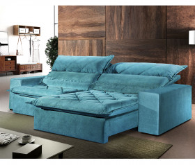 Sofa Retratil Reclinavel  Capry- 2,30 mts até 2,90 mts - UniArt Estofados