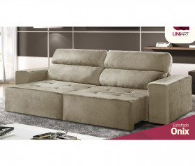 Sofa Retratil Reclinavel  Onix - 1,90mts até 2,30mts - UniArt Estofados