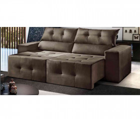 Sofa Retratil Reclinavel Atlanta - 1,80 mts até 2,30 mts - ByMobille