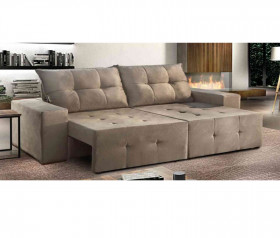 Sofa Retratil Reclinavel  Paris - 1,50mts até 2,30 mts