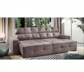 Sofa Retratil Reclinavel Light - 2,10 mts até 2,50 mts