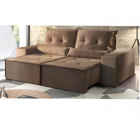Sofa Retratil Reclinavel Belize Suede Castor